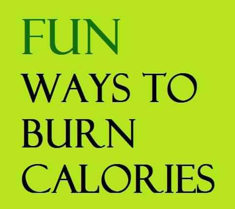 fun ways to burn calories