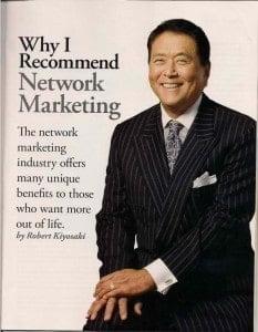 why robert kiyosaki recommends network marketing